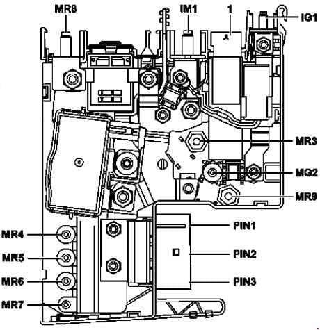 Mercedes-Benz E-Class w212 - fuse box diagram - front electrical prefuse box (Hybrid)