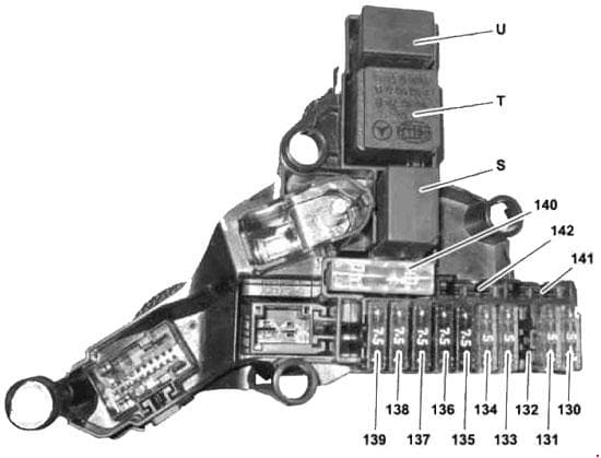 Mercedes-Benz E-Class w212 - fuse box diagram - Hybrid fuse and relay module