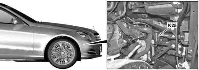 Mercedes-Benz E-Class w212 - fuse box diagram - oil cooler fan motor relay (engine 157)