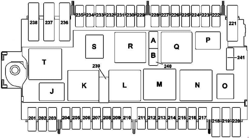 Mercedes-Benz GLA-Class - fuse box diagram - engine compartment