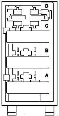 Mercedes-Benz ML w164 - fuse box diagram - AdBlue fuse block
