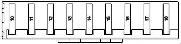 Mercedes-Benz R-Class (W251) - fuse box diagram - passenger compartment