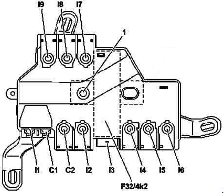 Mercedes-Benz S-Class (w222) - fuse box diagram - vehicle interior prefuses