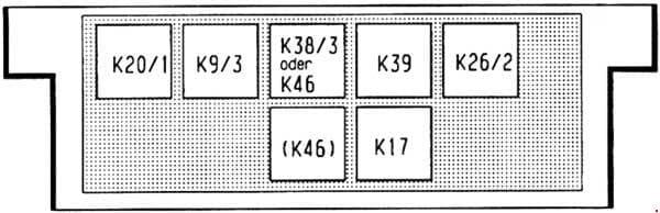 Mercedes-Benz Vaneo (w141) - fuse box diagram - control module box