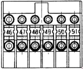 Mercedes-Benz Vaneo - (w141) - fuse box diagram - prefuse box on batterry's plus terminal