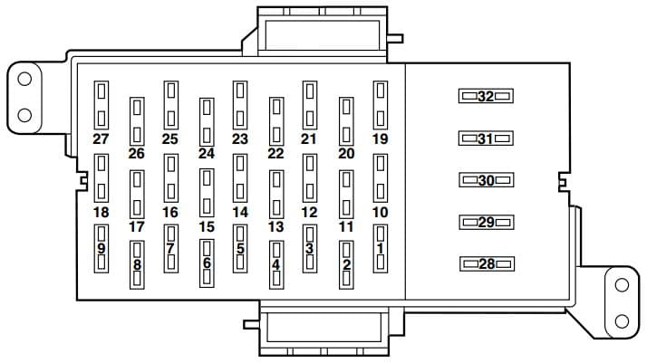 Merucry Marauder - fuse box - passenger compartment