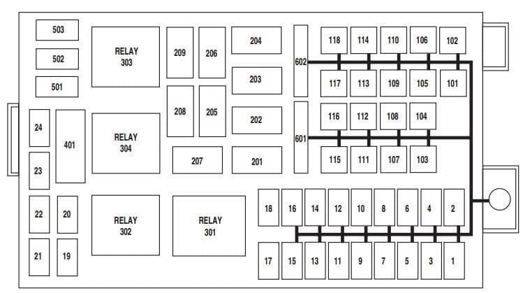 Merucry Marauder - fuse box - power distribution box