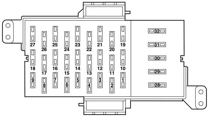 Merucry Monterey - fuse box - passenger compartment