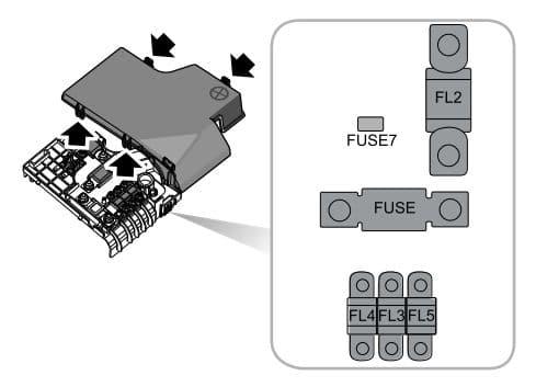 MG GS - fuse box diagram - battery