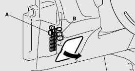 Mitsubish Outlander - fuse box diagram - instrument panel