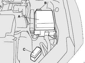 Mitsubishi Eclipse 4G - fuse box diagram - engine compartment (location)