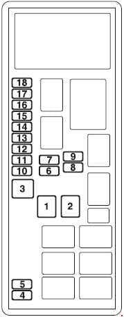 Mitsubishi L200 - fuse box diagram - engine compartment