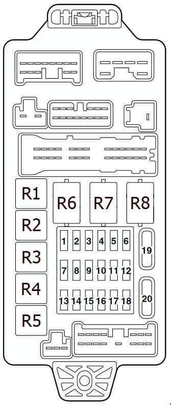 Mitsubishi Lancer - fuse box diagram - instrument panel