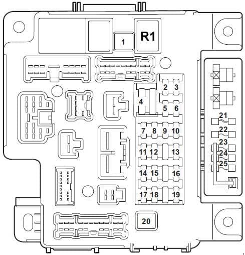 Mitsubishi Lancer - fuse box diagram - panel instrument