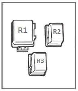 Nissan Almera - fuse box diagram - instrument panel (rear side)