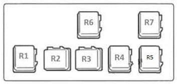 Nissan Almera - fuse box diagram - relay block