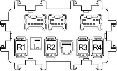 Nissan Altima - fuse box diagram - passenger compartment