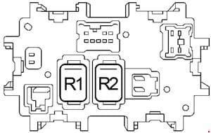 Nissan Murano - fuse box diagram - passenger compartment