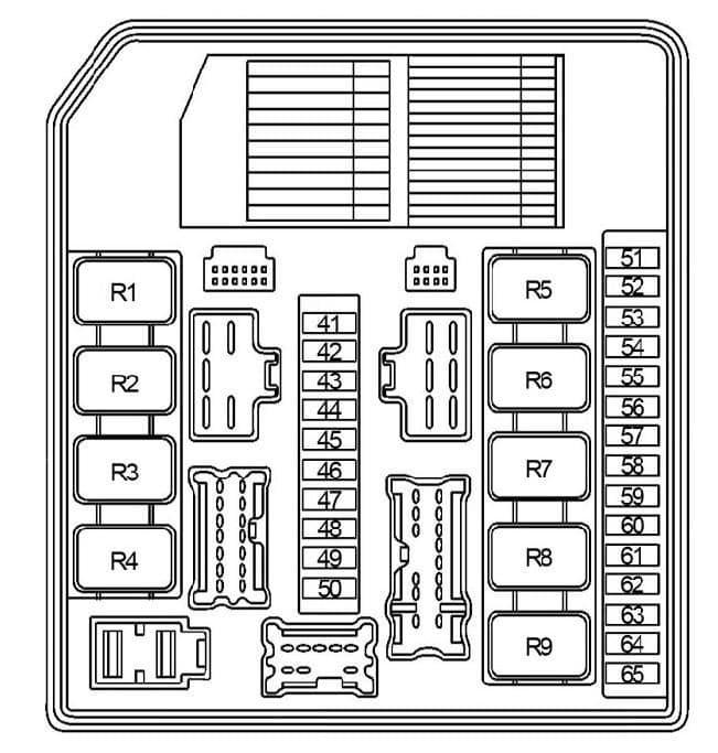 Nissan Note - fuse box diagram - engine compartment fuse box