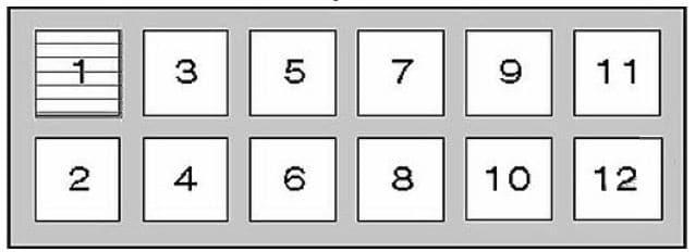 Nissan Patrol - fuse box diagram - relay box 1