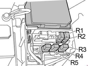 Nissan Sentra - fuse box diagram - fusible link block