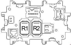 Nissan Sentra - fuse box diagram - passenger compartment fuse-box