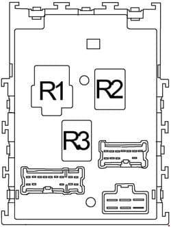 Nissan Sentra - fuse box diagram - passenger compartment fuse box