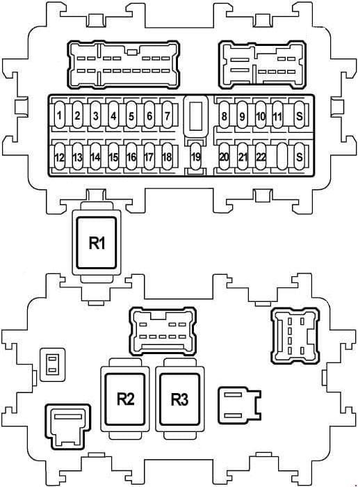 Nissan Teana J31 - fuse box diagram - dash panel