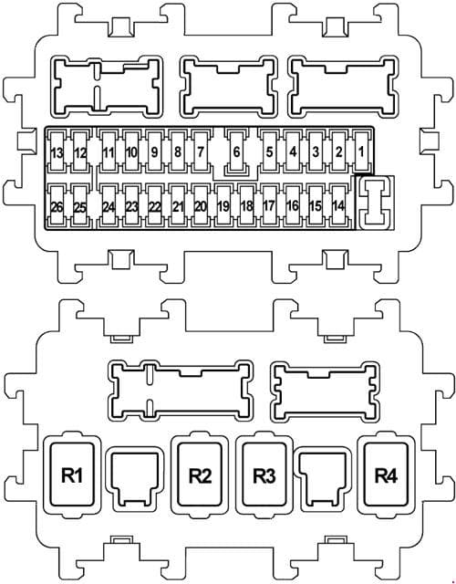 Nissan Teana J32 - fuse box diagram - dash panel