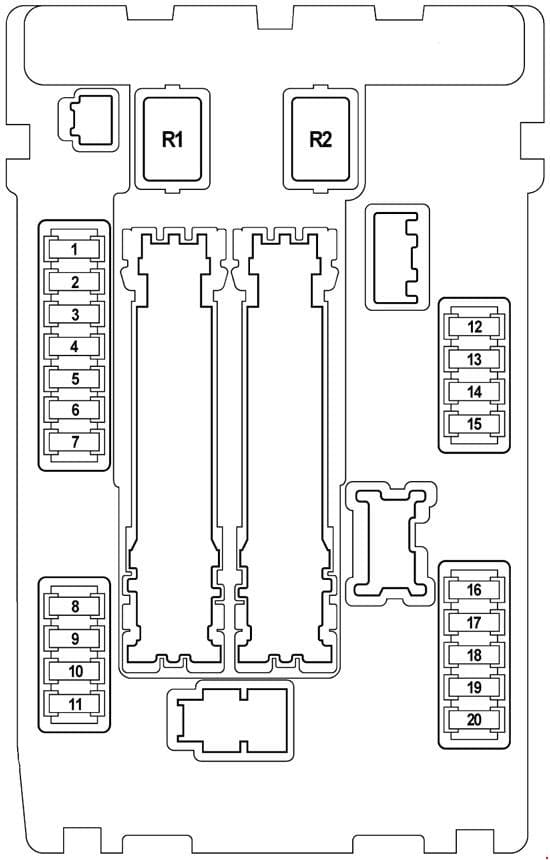Nissan Teana J32 - fuse box diagram - engine compartment