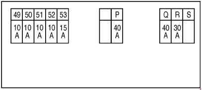 Nissan X-Trail - fuse box diagram - engine compartment F116 - engine MR