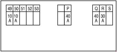Nissan X-Trail - fuse box diagram - engine compartment F116 - engine QR