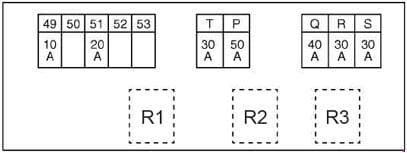 Nissan X-Trail - fuse box diagram - engine compartment F116 - engine R9M