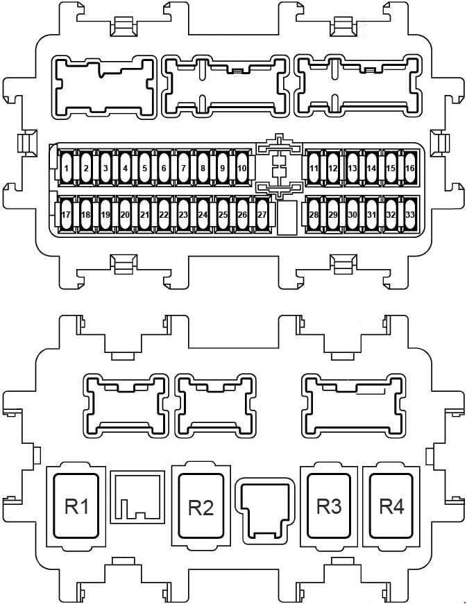Nissan X-Trail - fuse box diagram - instrument panel