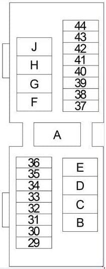 Nissan Xterra - fuse box diagram - engine compartment fuse box