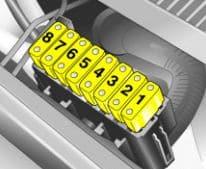 Opel Meriva A - fuse box - engine compartment