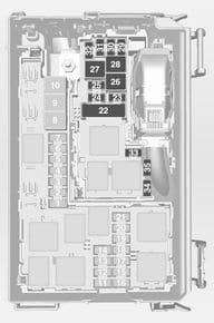 Opel Tigra Twin Top - fuse box - engine compartment