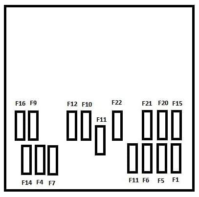 Peugeot M59 - fuse box - instrument panel