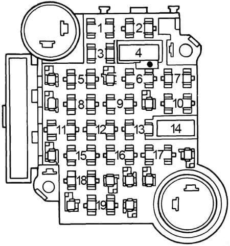 Pontiac Lemans - fuse box diagram