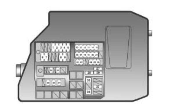 Pontiac Vibe - fuse box - engine compartment