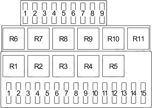 Porsche 924 - fuse box diagram - type 1