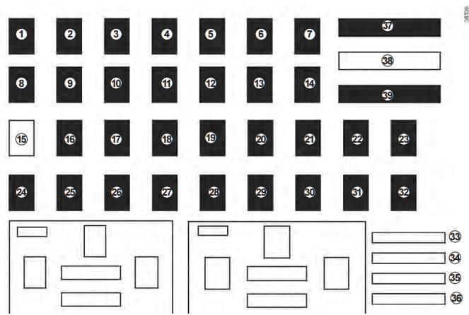 Renault Capture - fuse box diagram