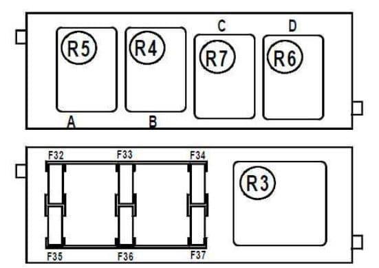 Renault Vel Satis - fuse box diagram - glove compartment