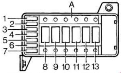 Rover 200 R3 - fuse box diagram - engine compartment