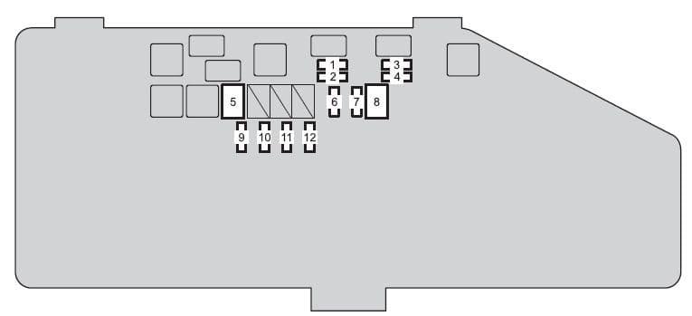 Scion iQ EV - fuse box - engine compartment (type B)