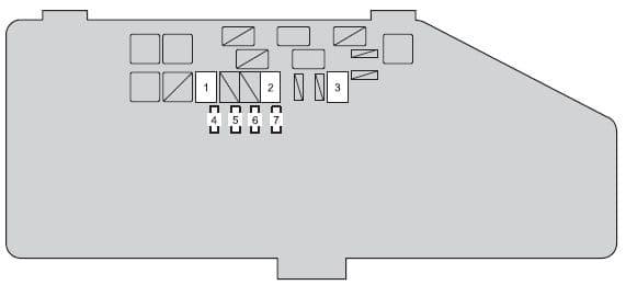 Scion iQ - fuse box - engine compartment (type C)