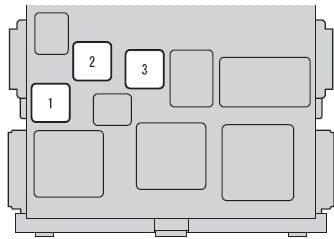 Scion xB mk2 - fuse box - driver's side instrument panel