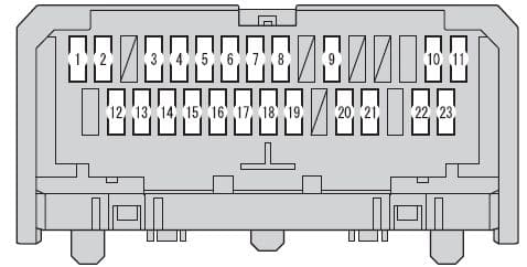 Scion xB mk2 - fuse box - under the driver's side instrument panel