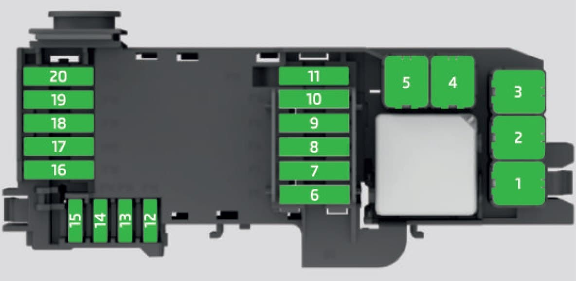 Skoda Fabia - fuse box - engine compartment