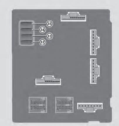 Smart Fortwo mk3 - fuse box - rear side
